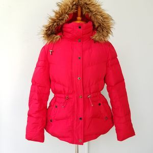 Kenneth Cole Reaction Red Down Jacket Hood fits PL
